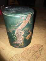 VINTAGE BEAUTIFUL JAPANESE TIN TEA BOX