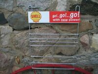 SHELL SMALL OIL CAN BANK RETRO METAL RACK
