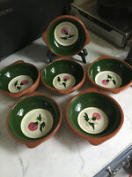 (6) Stangl Pottery - Thistle Pattern Lugged Soup Bowls - 6