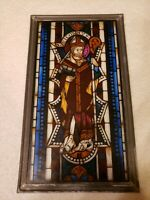 Vintage MMA Stained Glass Panel 7.75