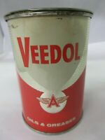 VINTAGE COLLECTIBLE  ADVERTISING VEEDOL GREASE  OIL GAS TIN CAN     757-Q