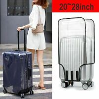 Waterproof Clear Transparent Luggage Suitcase Cover Case Protector Travel 20-28