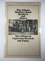 ALLMAN BROTHERS Original 1973 Vintage BROTHERS AND SISTERS Album AD Gregg Duane