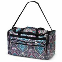 Women Duffel Tote Bag for Gym Sports Business Trip Camping Travel Blue Paisley