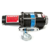 Kimpex Electric Winch 3500 lb Synthetic Cable Wire Rope 49' 12V w/Accessories