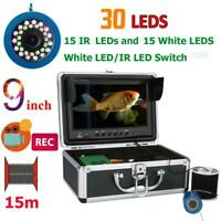 9 inch DVR Recorder Fish Finder 8G TF Card Video Fishing Camera For Ice/Sea