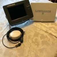 Lowrance LCX 27C fish finder w/ GPS ANT, g mount, no transducer. Good condition