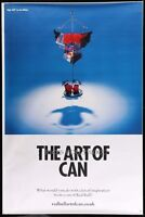 HUGE Original RARE RED BULL ART OF THE CAN #1  Bus Shelter Poster 47