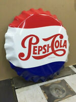 Stout Mfg 27 Inch Metal Pepsi Cola Bottle Cap Sign
