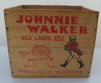 Antique JOHNNIE WALKER RED LABEL Scotch Whisky Advertising CRATE Canada Dry NY