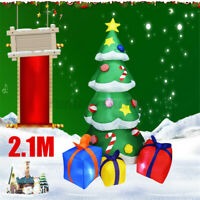 2.1M Inflatable Christmas Tree Gifts LED Lights Garden Decor Xmas Indoor Outdoor