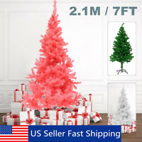 7ft Christmas Artificial Tree Indoor Outdoor Xmas Ornament Decor with Stand