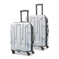 Samsonite Centric Hardside Expandable Luggage with Spinner Wheels Silver Set