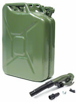 VALPRO 20 Liter 5 Gallon Authentic NATO Style Jerry Can with Flexible Spout
