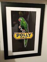 Collectible Polly Gas & Oil Advertising Framed Picture - Gas Station Sign Used