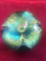 GES Dichroic Glass Small Paperweight Dated 1996