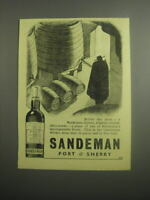 1948 Sandeman Port amp; Sherry Ad Before the meal