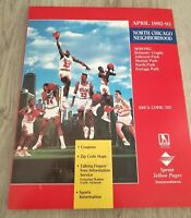 1992 93 April Chicago Bulls North Chicago Sprint Yellow Pages Directory