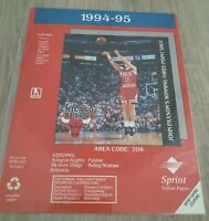 1994 95 Chicago Bulls Sprint Yellow Pages Directory Cover