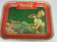 AUTHENTIC COKE COCA COLA 1940 ADVERTISING SERVING TRAY M 37
