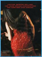 1997 Johnnie Walker Red Label Scotch Whisky Can Cause Conversation Dancing Ad