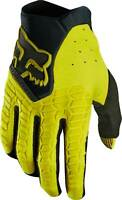 New Mens Adult Large Fox Racing Pawtector Gloves Dark Yellow For MX ATV Off Road