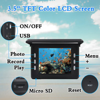 Fish Finder Underwater Ice Fishing Camera 3.5quot; LCD Monitor 8 15M 1000TVL