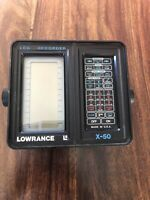 Lowrance X 50 LCG Recorder Fishfinder Untested