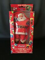 Coca Cola Playing Cards 2 Sealed Bicycle Decks in Collector Santa Claus Tin