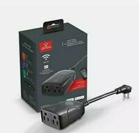 Globe Electric Wi Fi Smart Black 2 Outlet Outdoor Plug 058219500293 $17.99