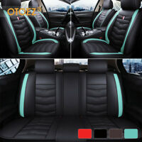 Luxury Leather Car Seat Covers Front Rear Full Set Universal For Sedan Truck SUV $88.99