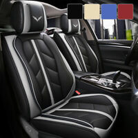 5 Car Seat Covers Full Set w Waterproof Leather Universal for Sedan SUV Truck $79.98