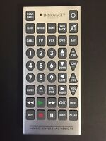 Innovage Jumbo Universal Television Remote Control Large Buttons Used Tested EUC $11.95