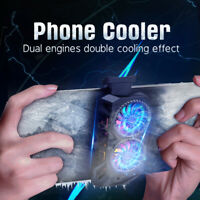 Mobile Phone Cooler For iPhone Samsung Universal Dual Engine Radiator Cooler $15.99