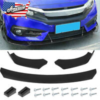 For Honda Civic BMW Benz Mazda GMC Universal Front Bumper Lip Body Kits Spoiler $28.99