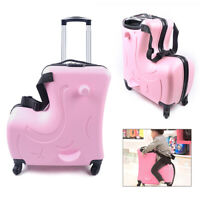 20quot; Children#x27;s Trolley Luggage ABSPU Ride On Suitcase Kid Carry On Luggage Pink