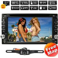 6.2quot; Double 2Din Car DVD CD Player GPS Navigation Radio Stereo Bluetooth Camera $139.00