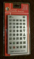 Universal Jumbo Remote Control: Connect Up To 8 Devices BRAND NEW FREE SHIPPING $6.99