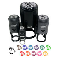 Cat Smart with Glasses and Bowtie Self Inking Rubber Stamp Ink Stamper $19.99