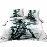 Motorcycle Bedding Set Cool Girl Duvet Cover For Adults Ink Painting Bed Covers