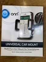 Onn Universal Car Mount NEW Quick Release Suction Rotates 360 Degrees $7.99
