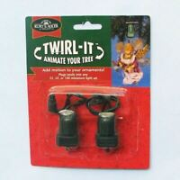 Twirl It Motor Pigtail Rotating Christmas Ornament Spinner Set of 2