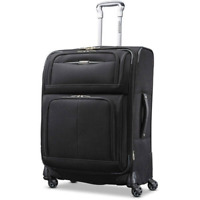 Carry On Luggage Travel Spinner Suitcase Rolling Telescopic Handle 21quot; 25quot; Black