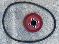 Used International Harvester Farmall 140 Tractor IHC Belt Pulley With Belt.