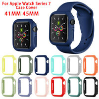 For Apple Watch Series 7 41 45MM PC Protect Hard Bumper Shockproof Case Cover