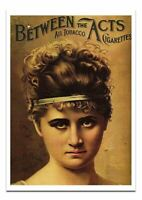 Between The Acts All Tobacco Cigarettes Advertisement Vintage Print