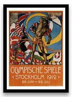 1912 Olympics Stockholm Reproduction Vintage Print MAGNETIC NOTICE BOARD