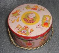 rare early humpty dumpty nursury ryme candy tin easter