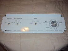 Kenmore Automatic washer 110 23812100  Control panel
