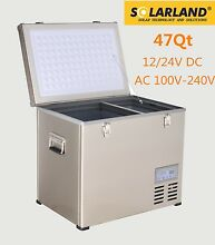 47 QT Portable Chest Freezer   Refrigerator Compact 12V 24V DC   AC Power Cooler